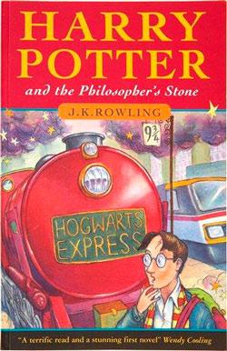 Primera edición de Harry Potter, valorada en unos cuantos miles de dólares.